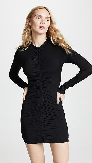 alexanderwang.t Long Sleeve Dress with Ruching Detail