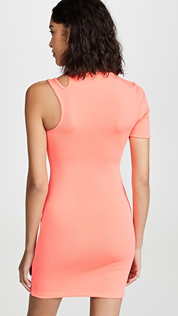alexanderwang.t Rib Asymmetric Dress