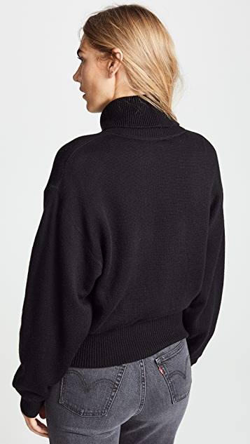 alexanderwang.t Double Layered Turtleneck with Twist