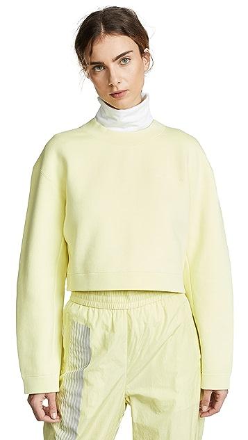 alexanderwang.t Укороченный пуловер из махровой ткани