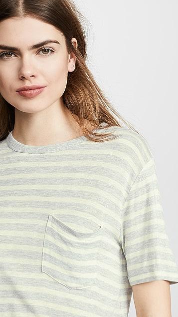 alexanderwang.t 宽条纹口袋 T 恤