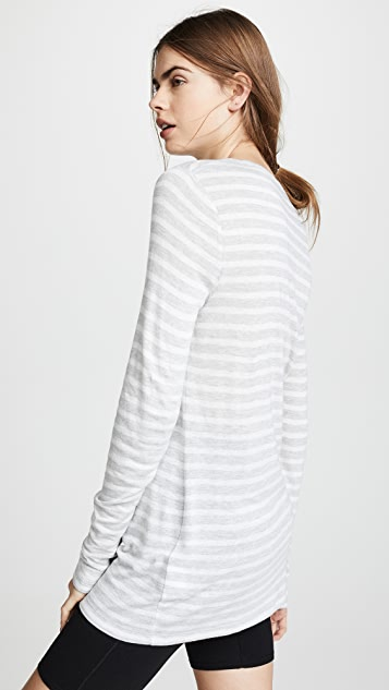alexanderwang.t Wide Striped Long Sleeve Tee