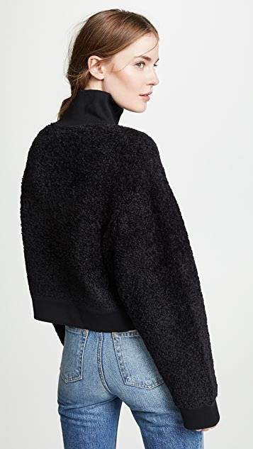 alexanderwang.t Fleece Half Zip Turtleneck