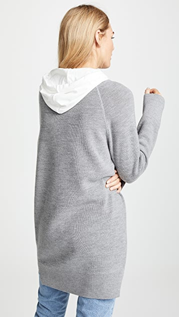 alexanderwang.t Sweater Tunic with Inner Hoodie