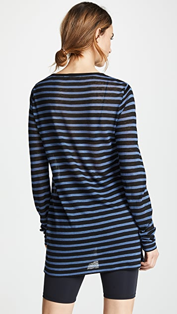 alexanderwang.t Striped Slub Jersey Long Sleeve Tee