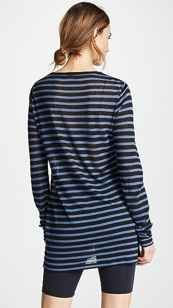 alexanderwang.t Striped Slub Jersey Long Sleeve Tee