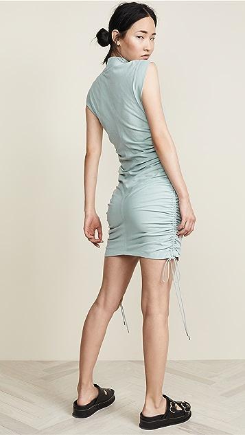 alexanderwang.t High Twist Jersey Dress with Ties