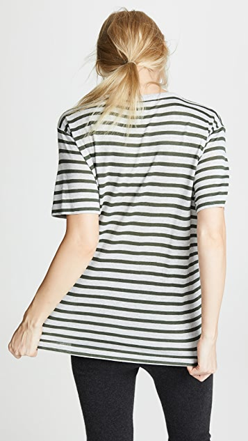 alexanderwang.t Striped Slubbed Jersey Tee
