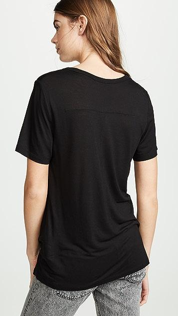 alexanderwang.t Драпированная футболка из джерси с вытачками