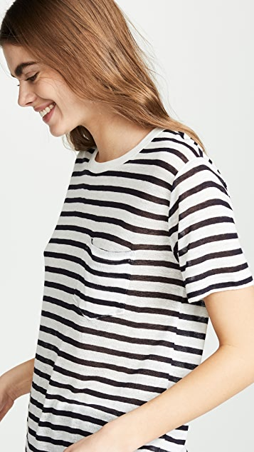alexanderwang.t 经典条纹竹节纹针织 T 恤