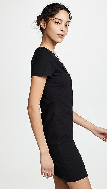 alexanderwang.t Compact Jersey Snaps Dress