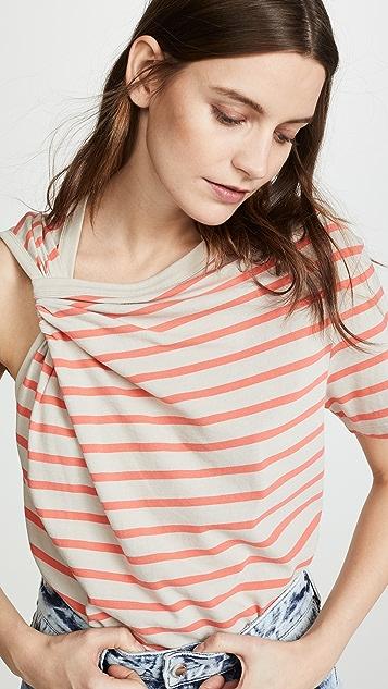 alexanderwang.t Thin Stripe High Twist Top