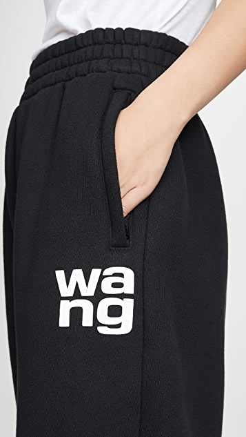alexanderwang.t Dense Fleece Pants With Puffpaint Print Detail