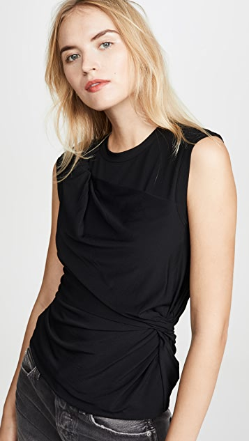 alexanderwang.t Twisted Crepe Jersey Top