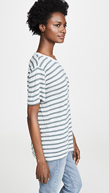 alexanderwang.t Striped Slub Short Sleeve Tee