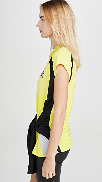 alexanderwang.t Neon Front Tie Top with Collar