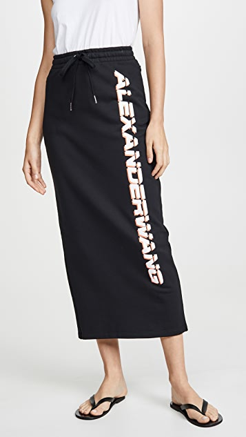 alexanderwang.t Dry French Terry Skirt