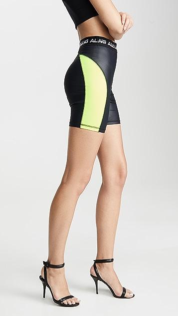 alexanderwang.t Wash & Go Satin Jersey Biker Shorts