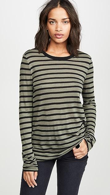alexanderwang.t Striped Slub Long Sleeve Top