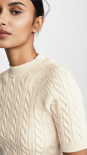 alexanderwang.t Shrunken Cable Raglan Sweater