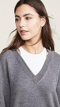 Bi-Layer V Neck Sweater