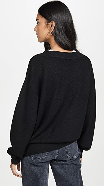 alexanderwang.t Двухслойный свитер с V-образным вырезом