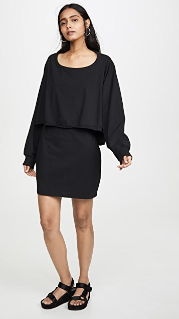 alexanderwang.t High Twist Jersey Open Back Dress