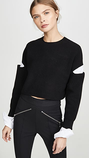 alexanderwang.t Cropped Pullover Oxford Shirt