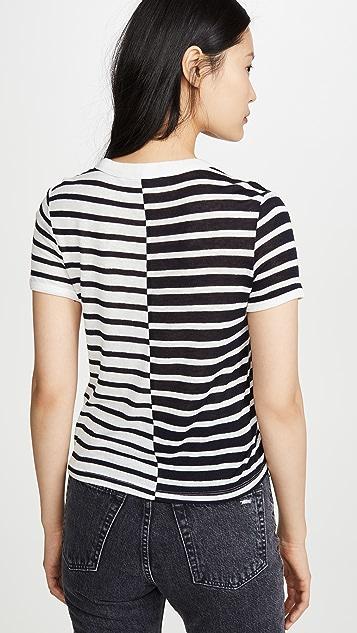 alexanderwang.t Mix Print Stripe Boy Tee