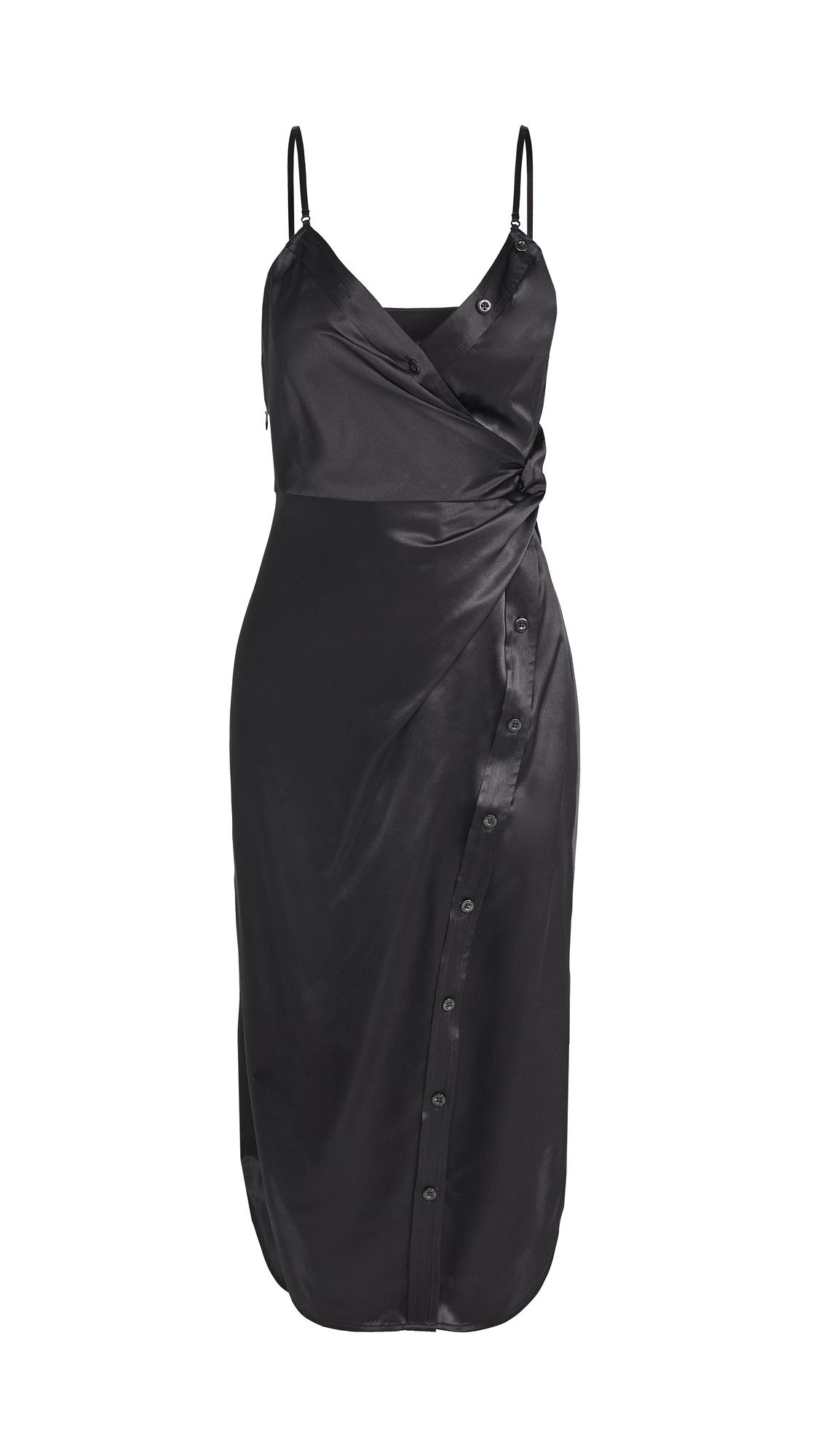 alexanderwang.t Cami Midi Dress with Waist Twist Detail