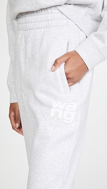 alexanderwang.t Foundation 毛圈布修身运动裤