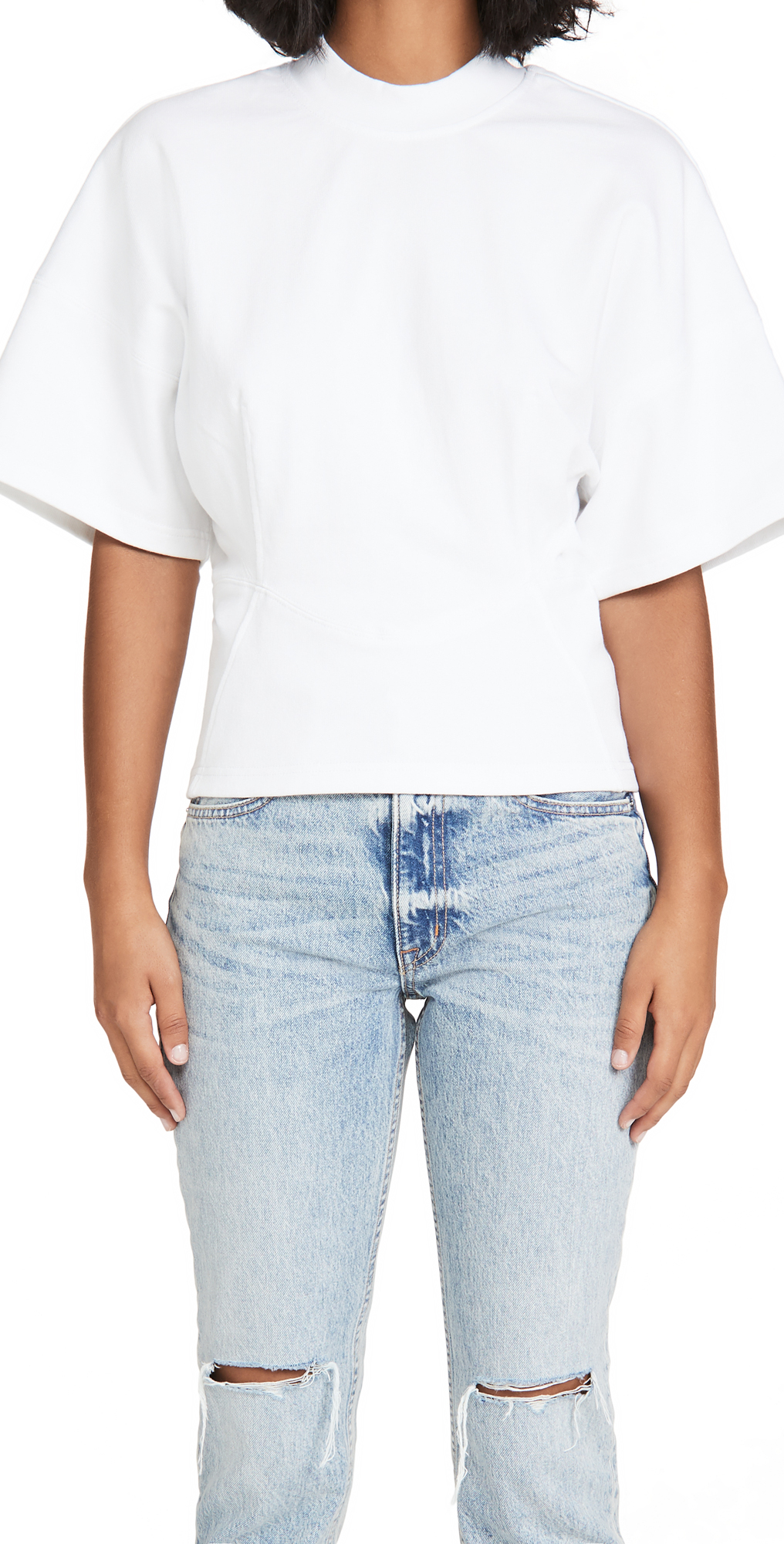 alexanderwang.t Sculpted Crew Neck Top