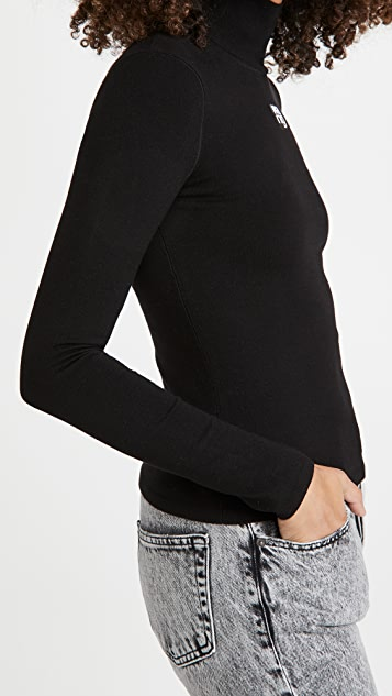 alexanderwang.t Turtleneck Pullover with Logo Patch