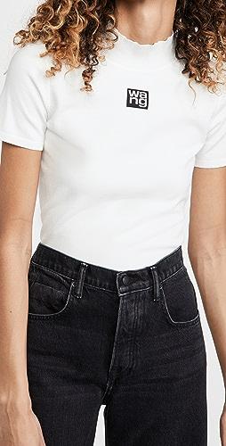 alexanderwang.t - Foundation Bodycon Short Sleeve Mock Neck Top