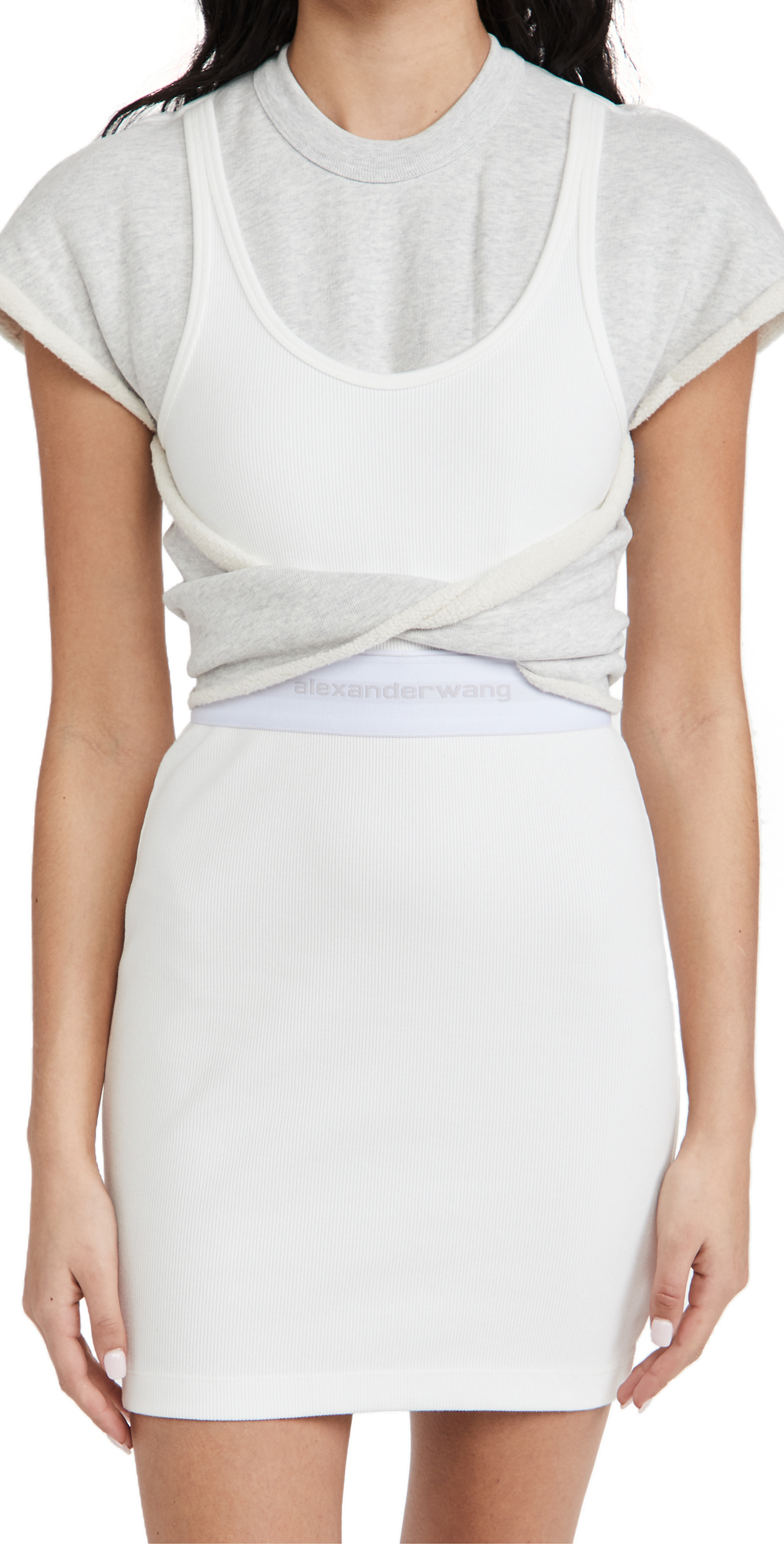 alexanderwang.t Hybrid Tank Sweatshirt Dress