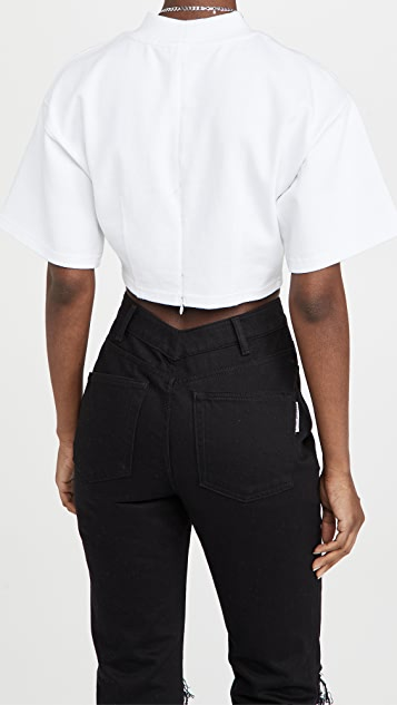 alexanderwang.t Sculpted Cropped T-Shirt