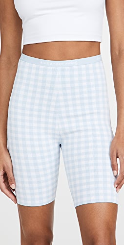 alexanderwang.t - Gingham Bodycon Bike Shorts
