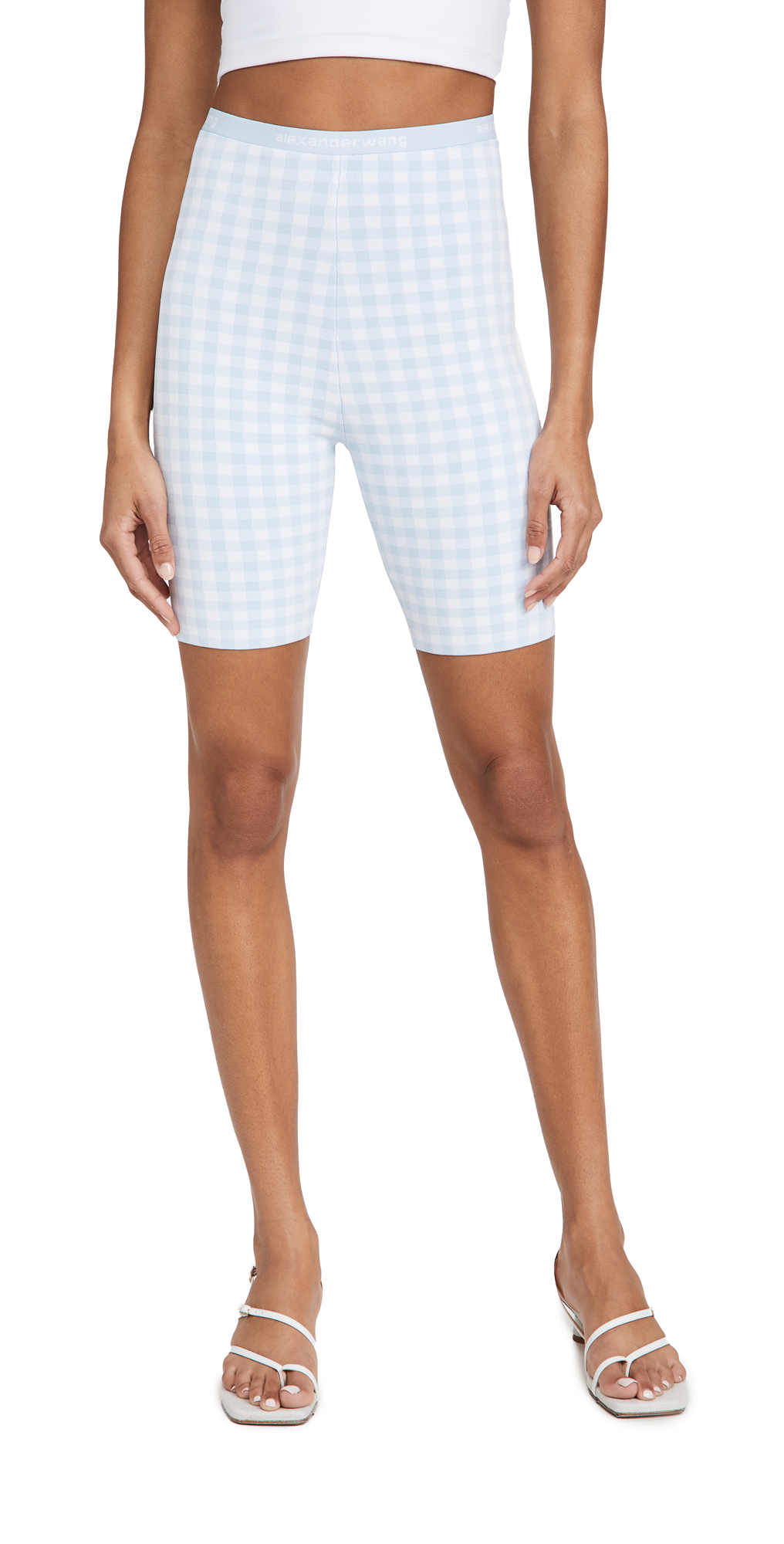 alexanderwang.t Gingham Bodycon Bike Shorts