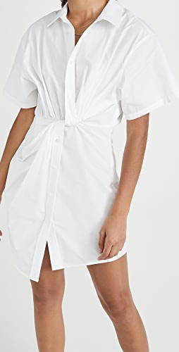 alexanderwang.t - Twisted Placket Short Sleeve Dress