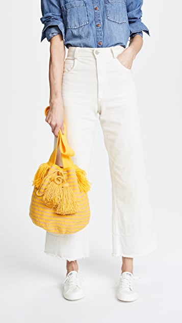 The Way U Large Solid & Striped Mochilas Bucket Bag