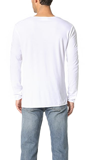 The White Briefs Birch Long Sleeve Henley