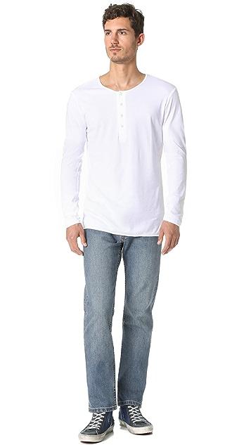 The White Briefs Birch Long Sleeve Henley
