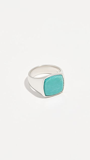 TOM WOOD Cushion Turquoise Ring