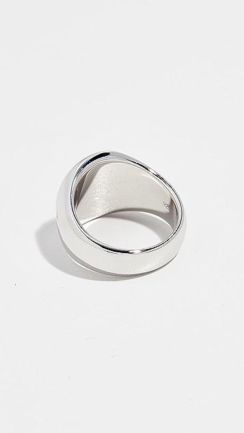 TOM WOOD Oval Larvikite Ring