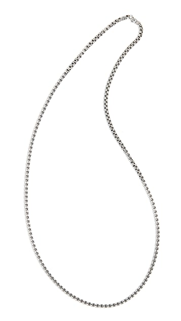 TOM WOOD Venetian Double Chain Necklace
