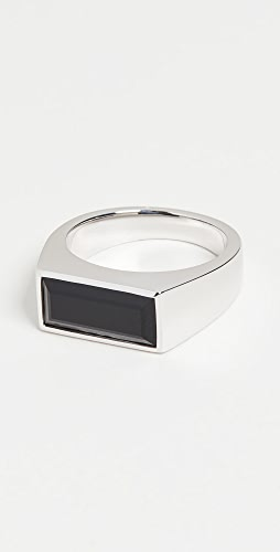 TOM WOOD - Peaky Ring Polished Black Onyx