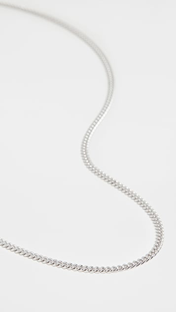 TOM WOOD Curb Chain M Necklace