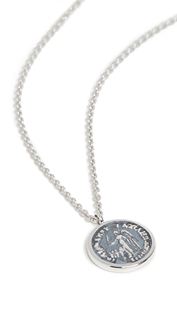 TOM WOOD Coin Pendant Angel Necklace