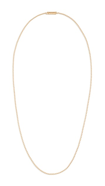 TOM WOOD Ball Chain Gold Necklace