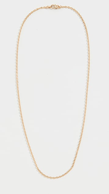 TOM WOOD Anker Chain Slim Gold Necklace